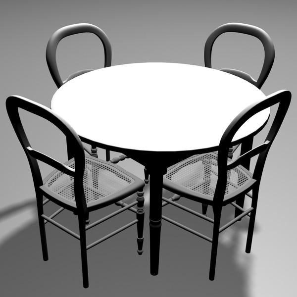max antique wood table chairs - Antique table and 4 chairs... by Ykay