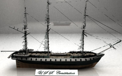3d model u s constitution ship - U.S.S. CONSTITUTION... by Monkey Wrench