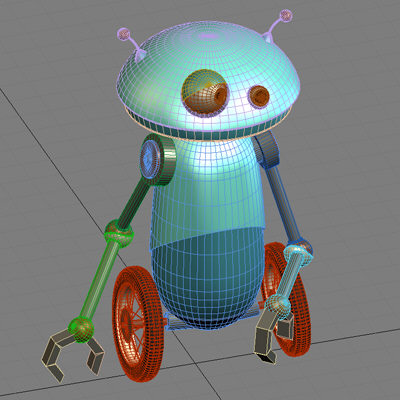 3ds max funny rupert retard - Rupert the Misguided Robot... by little toyshop of uncle nazghul