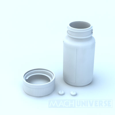 prescription bottles 3d lwo - Medicine Bottles... by machuniverse