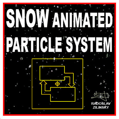 snow particle 3d model - SNOW particle system (animated)... by radoxist
