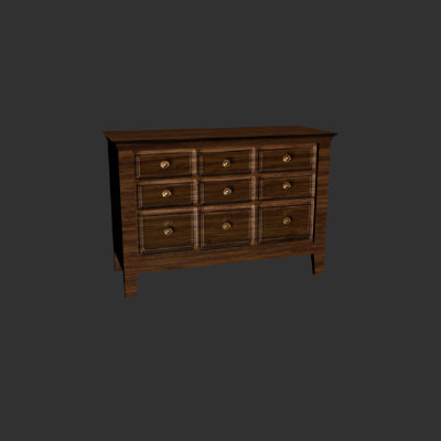 3d model dresser prop environment