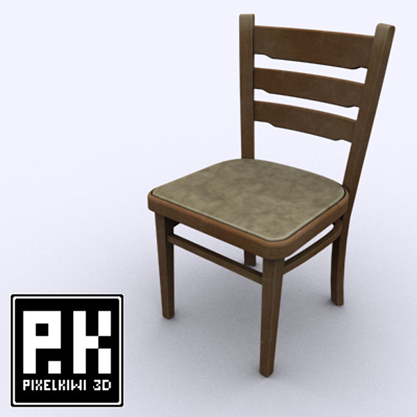 maya wooden chair - Wooden Chair... by PixelKiwi