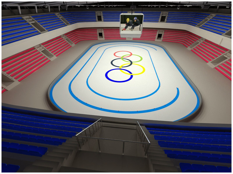 short long track arenas 3ds - Short/Long Track Arenas - Interior and Exterior... by Tornado Studio
