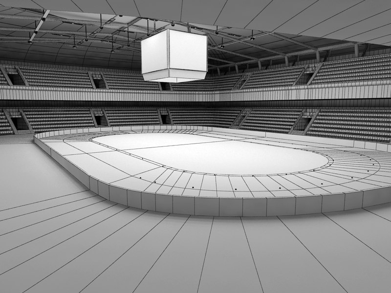 short long track arenas 3ds - Short Long Track Arenas Interior and Exterior... by Tornado Studio