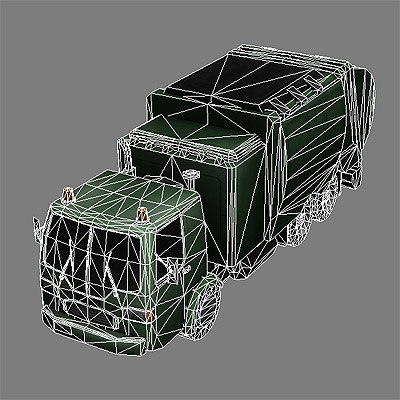ready garbage truck 3d model - Garbage Truck #4... by GameArt3D