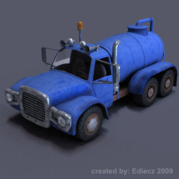 cartoon truck tank max