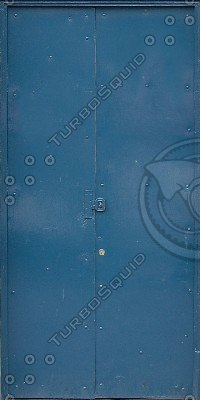 D029 blue double doors texture