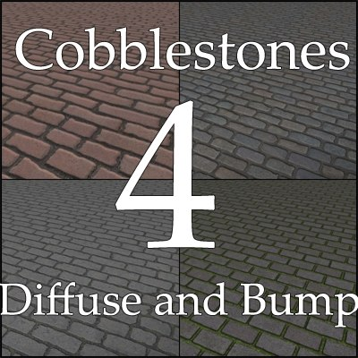 Belgian Blocks Granite Setts Cobblestones texture collection