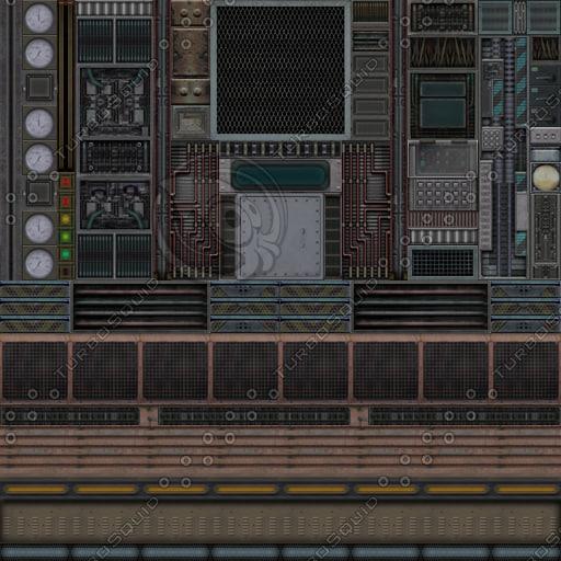 SF061 sci-fi spaceship wall texture
