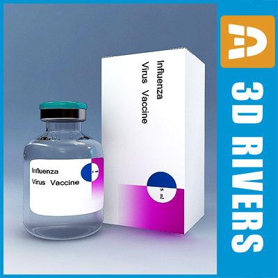 influenza vaccine 3d model