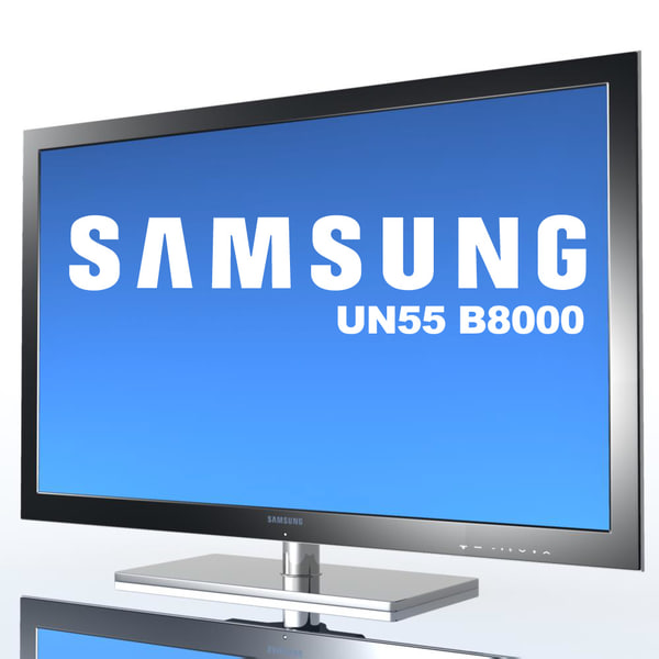 tv samsung un55 b8000 3d model