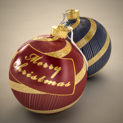 Christmas Tree Ornaments, 2