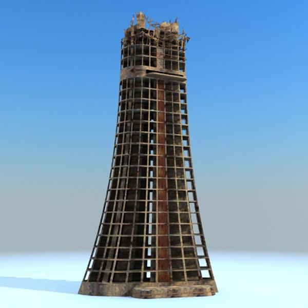 Sci Fi Ruin Building 07
