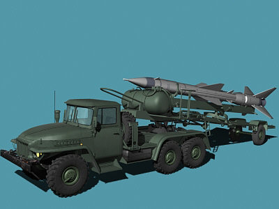 3d model ural sa-2 loader - Ural-375/SA-2 loader... by Alex Kontz
