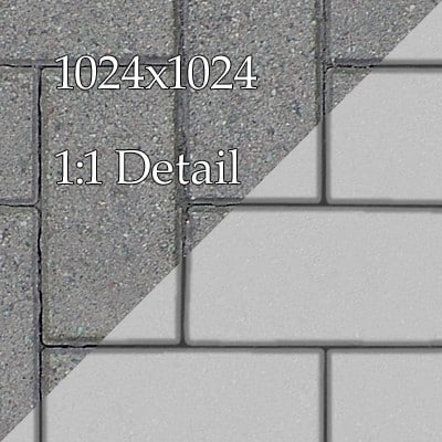 G398 paving bricks walkway SRF