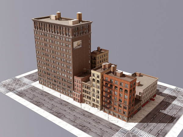 city street 3d model - CITY STREET... by Nodexis