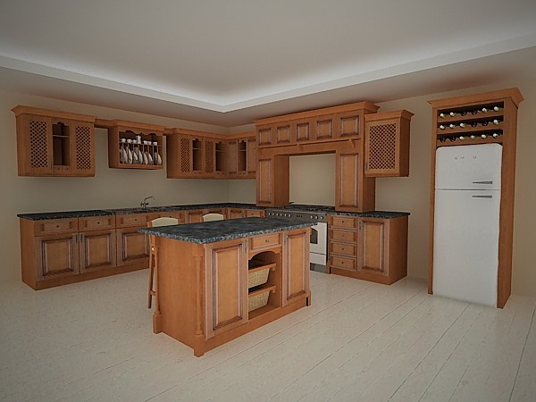 kitchen rustic 3d max - Kitchen Rustic... by vgreso