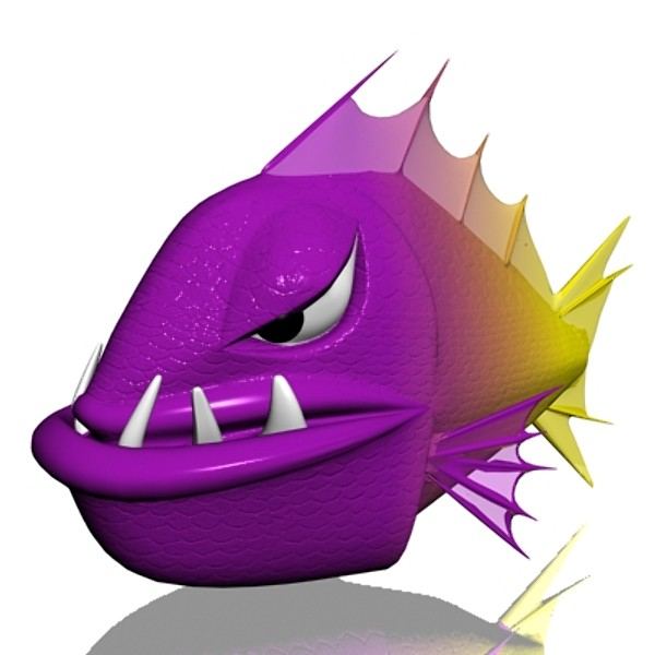 angry piranha 3ds - Angry piranha 3D... by supercigale
