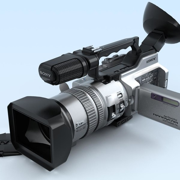 3d model camcorder sony dcr-vx2000e