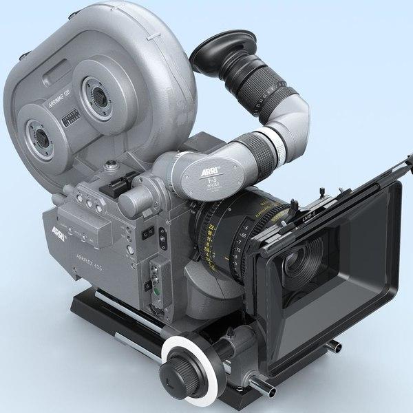 arriflex 435 extreme camera lens 3d model