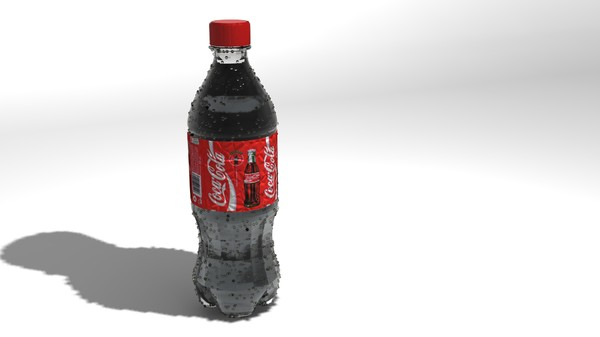 bottle coke 3d max