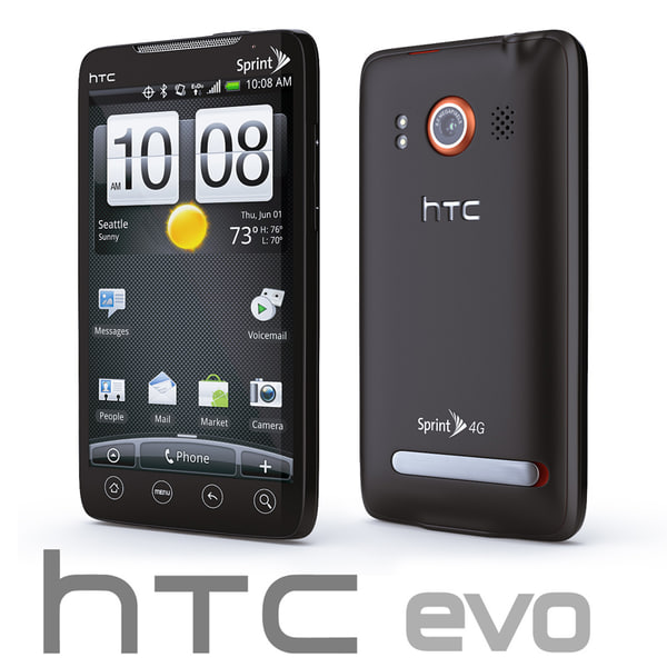 copy htc evo 3d model