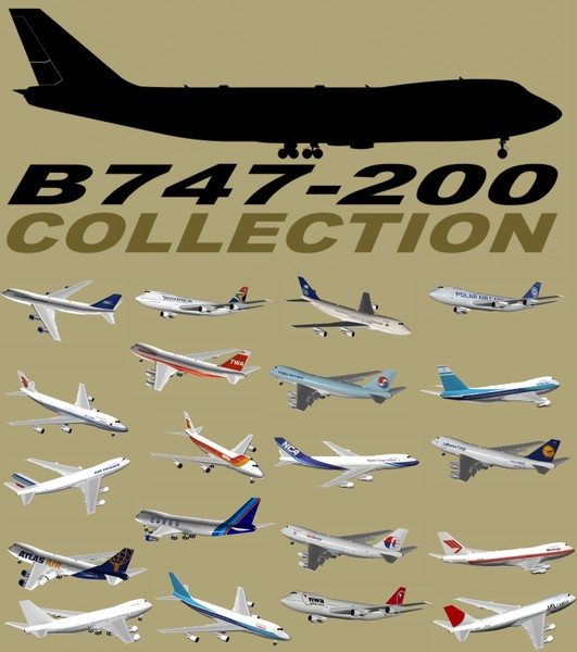3d b 747-200 model - B 747-200 Collection... by PedroFaut