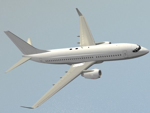3ds max b 737-700 generic white