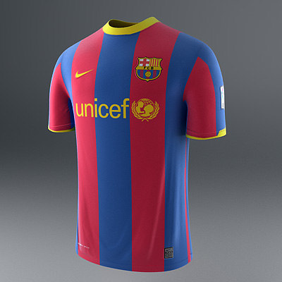 barcelona - jerseys 3d model