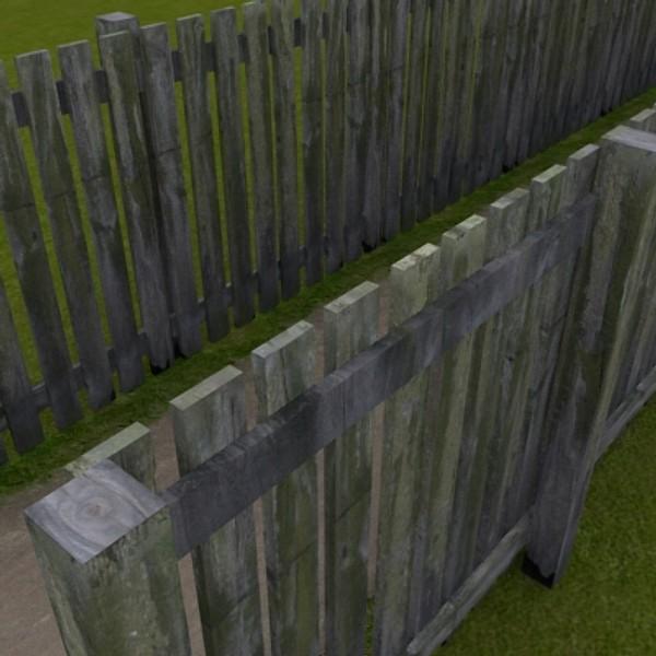 modular wooden fence