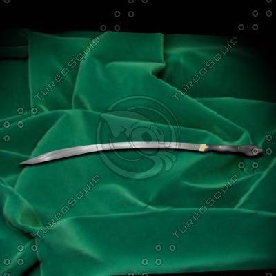 3d sword yatagan model