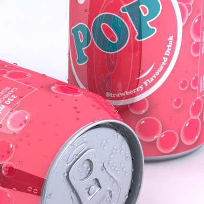 3d model unbranded soda flavours multiple - Unbranded Soda Can with multiple flavours... by 3dillustration