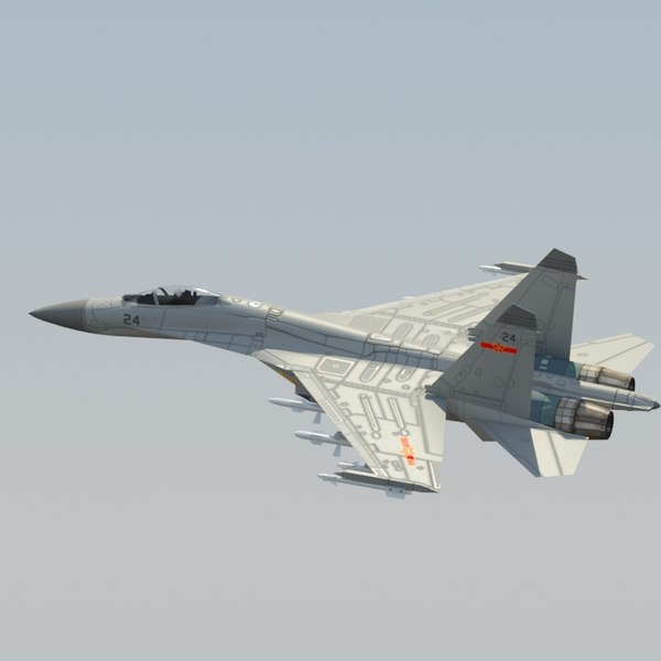 3d plaaf flanker fighter model - J11 Flanker 3DModel... by ES3DStudios