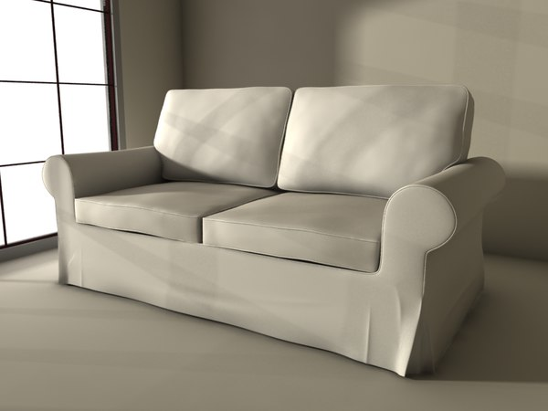 3d ikea sofa ektorp model