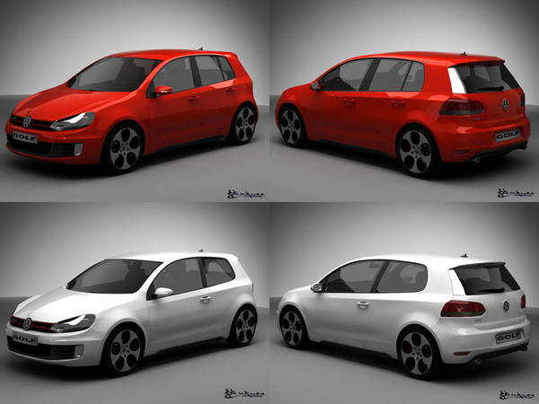 volkswagen golf gti pack 3d model