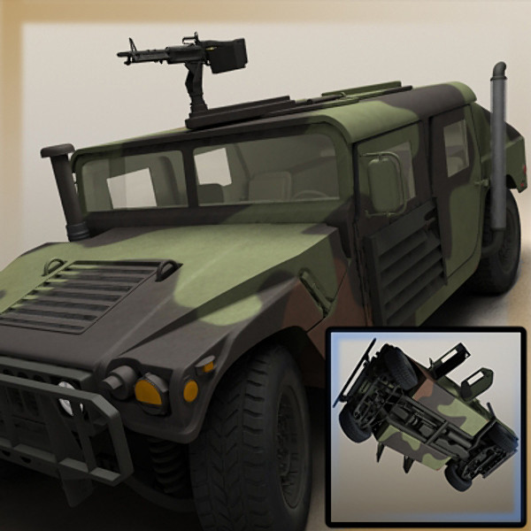 3d model realistic hmmwv vehicle military - HMMMWV (Military Humvee) Camouflaged... by Braden Lehman