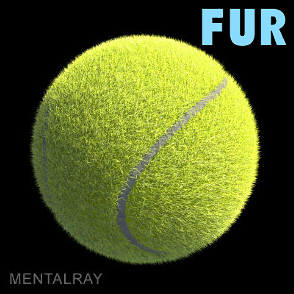 ma tennis ball furry fur renderman - Tennis ball - furry... by PROTOCG