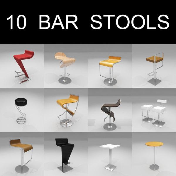 maya 10 bar stools