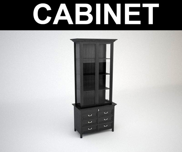 3dsmax contemporary cabinet
