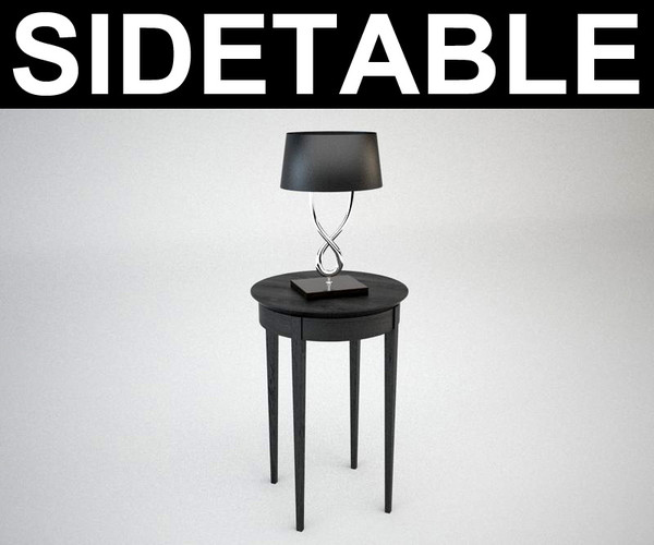 contemporary sidetable and lamp