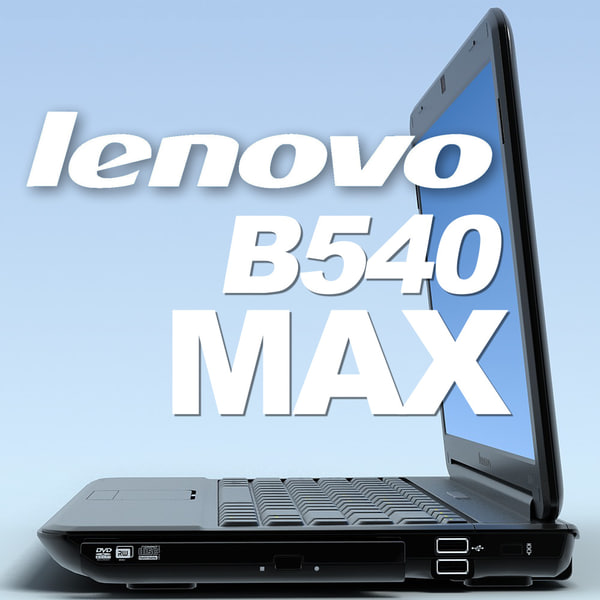 notebook lenovo b450 3d model