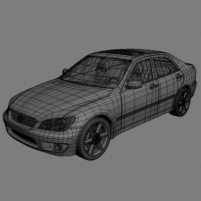 3d model lexus is400