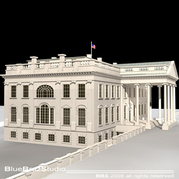 3d model white house - White House... by BraZ