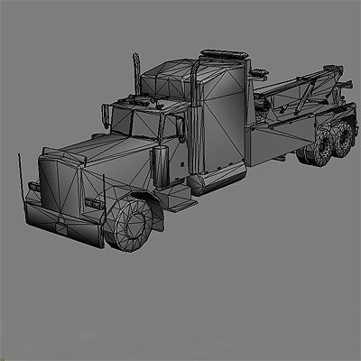 3d model ready wrecker tow truck - Wreckers / Tow Trucks collection... by GameArt3D