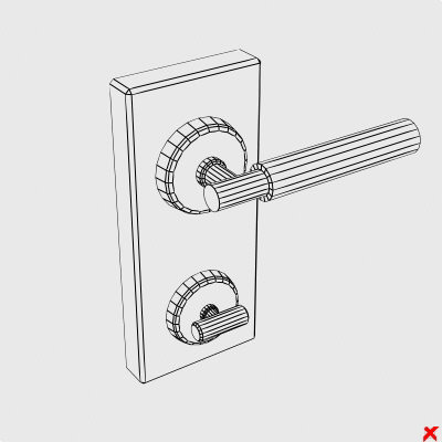 door knob 3d model - Door knob004.ZIP... by Fworx