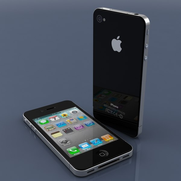 3d model apple iphone 4 - iPhone 4... by sweiry_tv