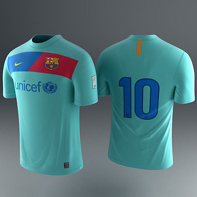barcelona - jerseys 3d model - Barcelona Shirt - Soccer Jersey... by RedTrey