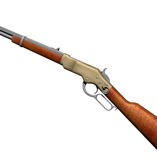 3ds 1866 winchester rifle - Winchester 1866... by mostlysquare
