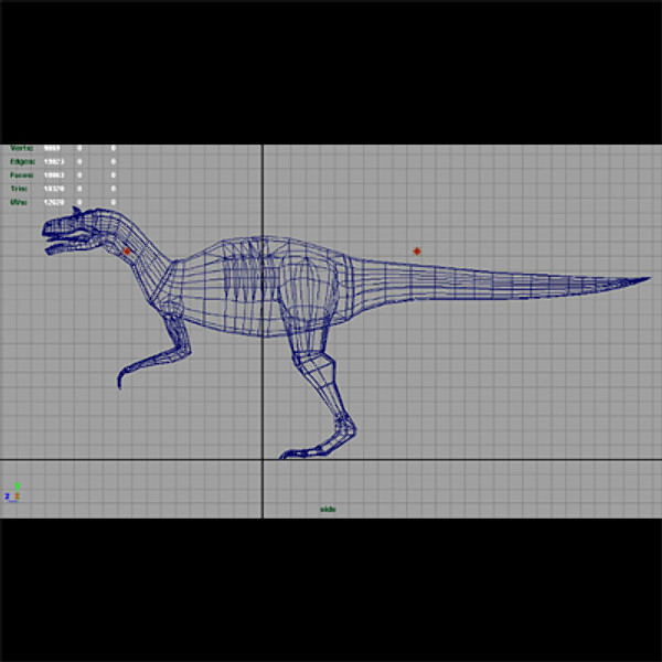 maya allosaurus ground sky - Allosaurus.mb... by EMB3D
